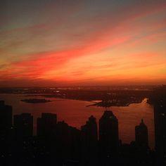 Sunset at NYU