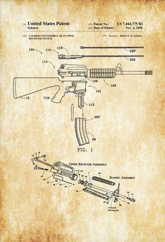 Rifles, Arte Dc Comics, Gun Art, Patent Drawing, Guns And Ammo, Weapons Guns, Photo Printer, Survival, Patent Prints