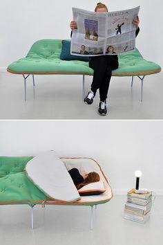 Софа-спальный мешок Camp Daybed Unzips - зимняя мебель для любителей походной жизни