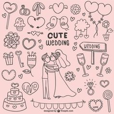 Image result for doodle wedding card