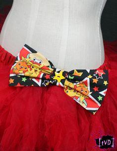 Pokemon Pikachu & Stars Fabric Bow