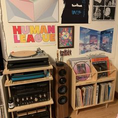 Vinyl Record Display, Vinyl Record Storage, Record Shelf, Room Ideas Bedroom, Bedroom Decor, Vinyl Room, Indie Room, Aesthetic Room Decor, Dream Rooms
