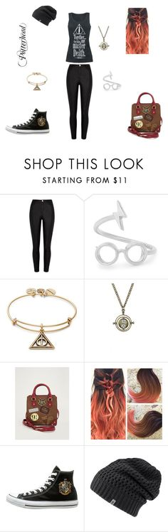 """Potterhead"" by erin766 on Polyvore featuring River Island, Alex and Ani, Warner Bros., Torrid, The North Face and harrypotter"