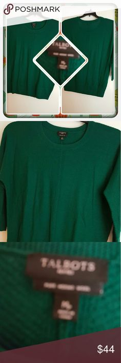 Woman's Green Top Size M  Woman's Top By Talbots Color Is A Beautiful Green Size Is A Medium Petite I Believe. This Is In Excellent Condition. I'm Selling For A Friend  PAYPAL  TRADES  LOWBALLING THANK YOU  Talbots Tops Tunics