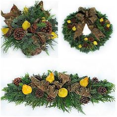 44 Weihnachtsdeko Ideen-Tannenzapfen Früchte Christmas Wreaths, Christmas Decorations, Xmas, Holiday Decor, Cemetery Decorations, Funeral Flowers, Ikebana, Pine Cones, Fall Decor