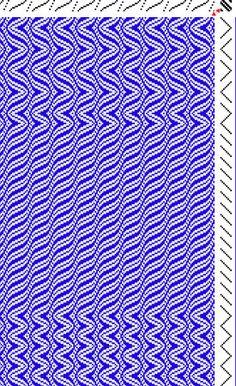 corkscrews & waves weaving draft