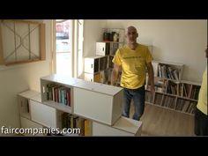 Tetris-like stacking + LEGOish shelves: modular minimalist furniture (Br...