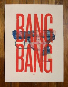BANG BANG graphic design #poster and typography inspiration