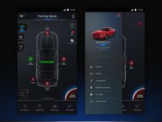 Car Control App Dashboard