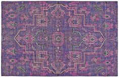 One Kings Lane Tacia Hand-Knotted Rug - Purple