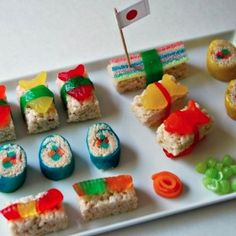 Candy Sushi for a Japanese-inspired birthday party.