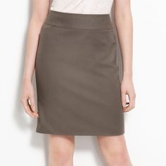 NWOT Halogen pencil skirt Size 6 Very versatile color. Never worn, vent stitch still in tact. Halogen Skirts Pencil