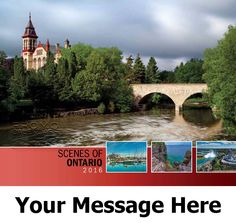 2016 Scenes of Ontario - Canadian Scenic - Promotional Calendar Cover. Imprinted with your Business, Organization or Event Name and Logo As Low As 65¢.