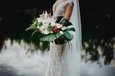 24 Summer Wedding Ideas to Copy for Your Own Celebration - Check out these steal-worthy summer wedding ideas, themes, and tips before you start planning your warm weather soirée. tropical flowers greenery bouquet {Vanessa Jaimes Floral Design} Rosewood Wedding, Wedding Bouquets, Wedding Gowns, Event Branding, Floral Watercolor, Watercolor Wedding, Floral Wedding Invitations, Tropical Flowers, Summer Wedding