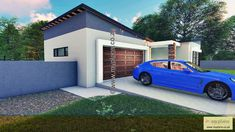 2 Bedroom House Plan MLB 107.4S - My Building Plans South Africa My Building, Building Plans, 2 Bedroom House Plans, Tuscan House, Double Garage, Open Plan, Master Suite, South Africa, Mlb
