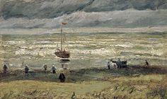 Detail from Vincent van Gogh's View of the Sea at Scheveningen.