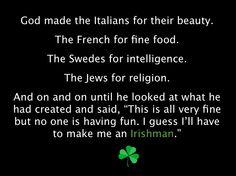 Great Irish Saying.
