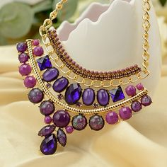 Are you looking Statement #Necklace with unique style.