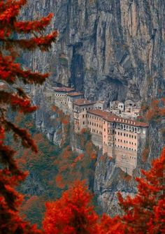 Panagia Soumela in autumn colours - Veria, Greece