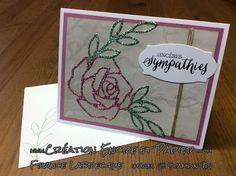 Stampin'Up!  Carte Mariage  Wedding Card  SAB Papier Paillettes / Glimmer Paper  Thinlits Roseraie  Rose Garden Thlinlits  www.creationencreetpapier.com