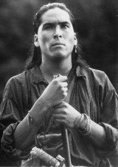 "Eric Schweig in ""Last of the Mohicans"" I bawl every time I watch his death in the movie,"
