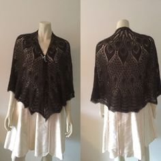 QIVIUT (musk ox) shawl, hand knitted in a beautiful lace pattern - pinned by pin4etsy.com