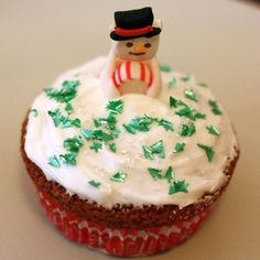 Cupcake Bonhomme de neige (by Over-Cookée)