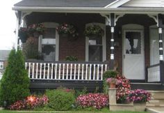 Pictures of Porches from Readers Pictures Of Porches, Porch Railing Designs, Small Porches, Flora And Fauna, Front Porch, Plants, Small Balconies, Front Porches, Plant