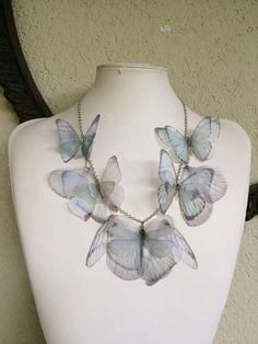Like Glass Handmade Silk Organza Fabric Butterflies