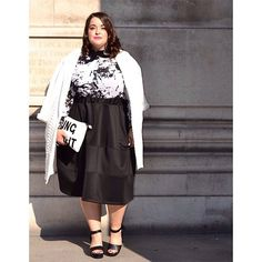 11 Inspiring Holiday Outfits From Our Favorite Plus-Size Bloggers #refinery29  http://www.refinery29.com/plus-size-holiday-instagram#slide4  Textured black and white is so chic. Let's all gasp a little at Danielle's impeccable look. This works for so many holiday gatherings — family dinner, work parties, something romantic, perhaps? Simply beautiful.