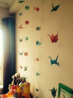 Décoration de chambre d'enfant en origami