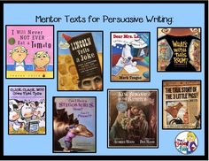 Great mentor texts to use for persuasive writing, plus practical tips to teach this important unit! Writing Mentor Texts, Writing Traits, Argumentative Writing, Writing Strategies, Persuasive Writing, Teaching Writing, Writing Activities, Essay Writing, Opinion Writing
