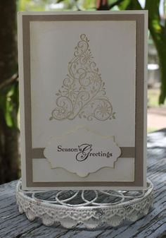 stampinup card with christmas tree stamp   Stampin' Up!   Fresh Cuts by Lu