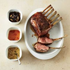 Rack of Lamb with Mustard-Shallot Sauce // More Lamb Recipes: http://www.foodandwine.com/recipes/rack-of-lamb-with-mustard-and-shallot-sauce #foodandwine