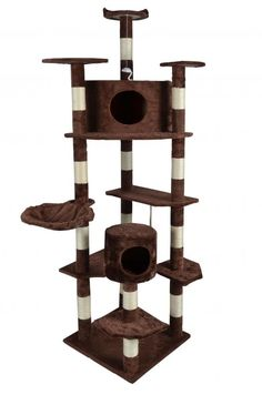 80' Cat Kitty Tree Tower Condo Scratching Post Furniture Pet House Brown >>> You can get additional details at the image link.