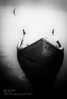Abandoned Boat by attang88 Black and White Photography #InfluentialLime