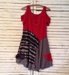 Coca-Cola T-shirt Tunic or Dress L Upcycled by AnikaDesigns
