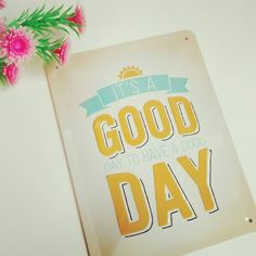 It's a good day to have a good day.  PS: tomorrow = also a good day; we're open on Sunday (spring shopping in Leuven). Visit us between 1:30pm and 5pm. See you then! #lenteshopping #leuven #itsagoodday #shopping #weekend #alsoopenonsunday #GoodDay #lenteshoppingleuven  #spring #springshopping #jeej #sundayfunday #metalsign #walldecor #sign #quote #instaquote #motivation #HaveAGoodDay #today #dailymotivation #livinglounge #parijsstraat