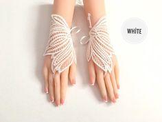Wedding lace gloves bridal gold ıvory gloves vintage gloves | Etsy