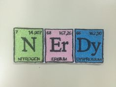 Items similar to Chemistry Style Nerdy Embroidered Patches, Science Lover Iron On Patches, Walter White Patch, Geeky Patches, Periodic Table Patch on Etsy Pin And Patches, Iron On Patches, Pacific Blue, Diy Tech, Lapel Pins, Chemistry, Nerdy, Periodic Table, Applique