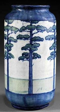 Value of Newcomb Pottery   pottery & porcelain, Louisiana, A Newcomb College art pottery vase ...