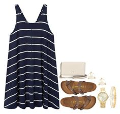 """""""I've been messin around"""" by legitimately-kierstin ❤ liked on Polyvore featuring MANGO, Birkenstock and Kate Spade"""