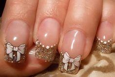 Bow Nail Art - 50+ Cute Bow Nail Designs  <3 !
