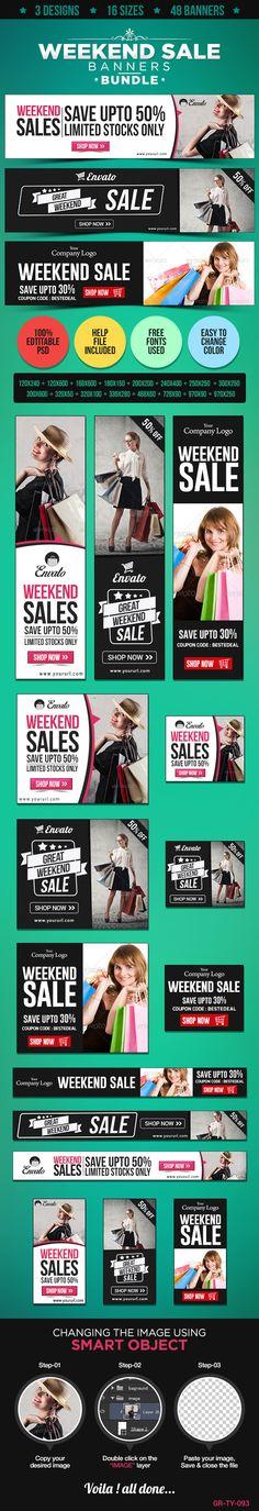 Special Sale Banner Bundle - 3 Sets on Behance