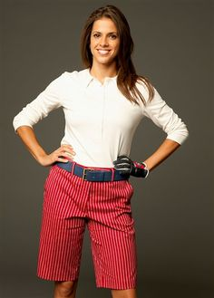 red, white and blue ladies #golf outfit | #golf4her