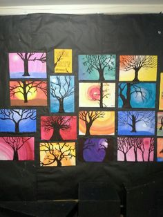 Tints, values and silhouette trees