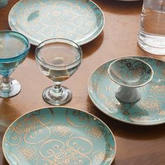 Rosanna Arabesque Appetizer Plate Set of 4