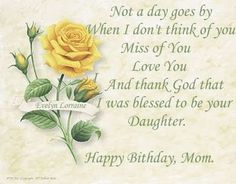 happy birthday to mother in heaven quotes | That Fallen' Angel: Happy Birthday Mom...I Miss You