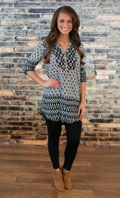 The Pink Lily Boutique - Show Me The World Tunic Dress, $38.00 (http://thepinklilyboutique.com/show-me-the-world-tunic-dress/)