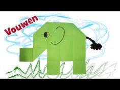 Olifant vouwen van papier met kinderen Elephant Pattern, Jungle Party, Safari, Crafts For Kids, Teaching, Creative, Youtube, Animal, Twitter